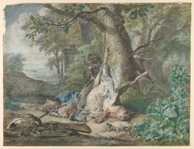 Hunting Still Life in a Forest