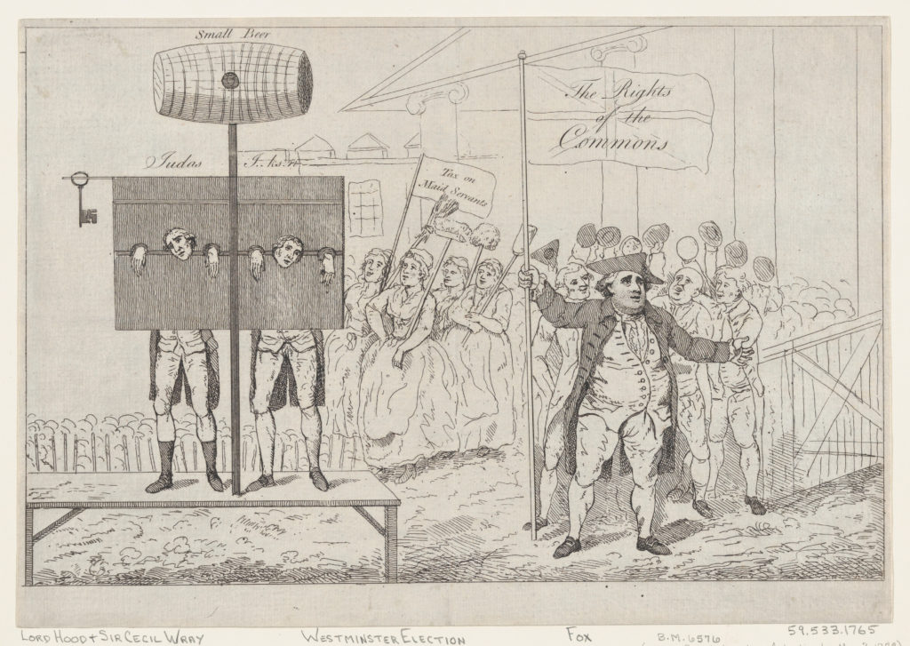 Sir Cecil Wray in the Pillory