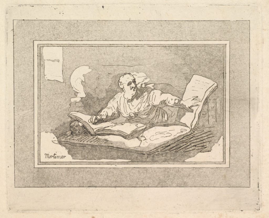 The Philosopher (Bearded Old Man Copying Book)