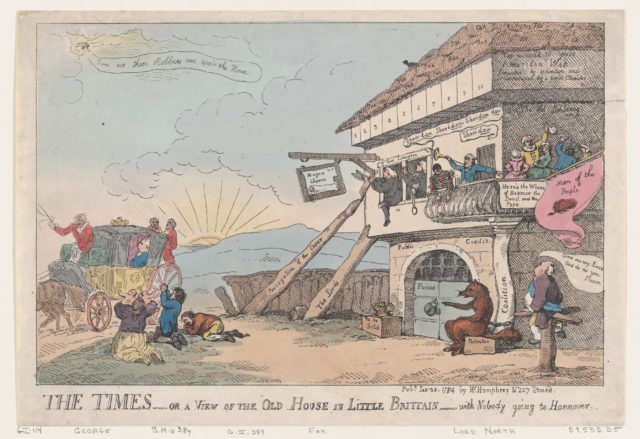 The Times - Or A View Of The Old House In Little Brittain - With Nobody Going To Hannover