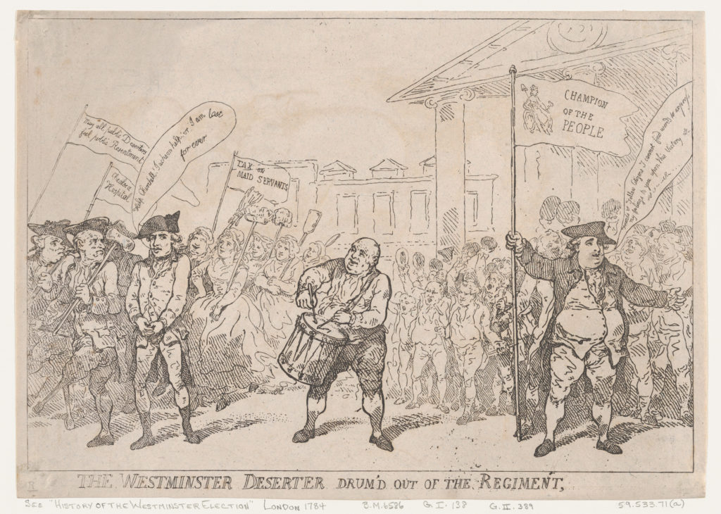 The Westminster Deserter Drum'd Out of The Regiment