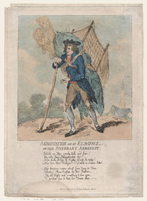 Aerostation out at Elbows, or The Itinerant Aeronaut