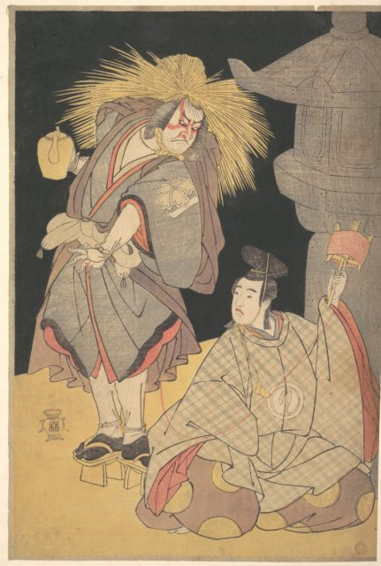 "Scene from the Drama ""Yuki-motsu-take Furisode Genji"""