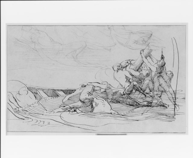 "Study for ""The Siege of Gibraltar"": The Wrecked Longboat"