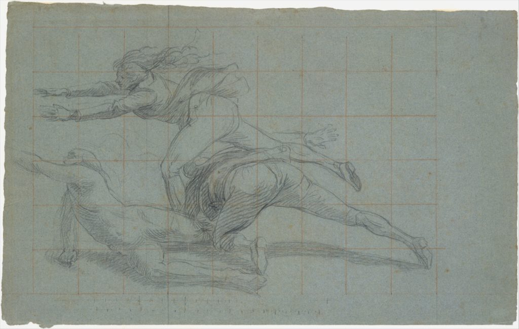 """Study for """"The Siege of Gibraltar"""": Three Figures"""