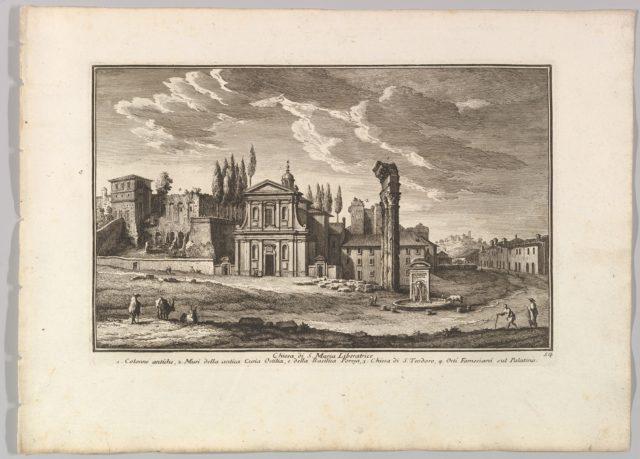 Chiesa di S. Maria Liberatrice, Plate 54 from Raccolta Delle Più Belle Veduta Antiche, E  Moderne Di Roma...