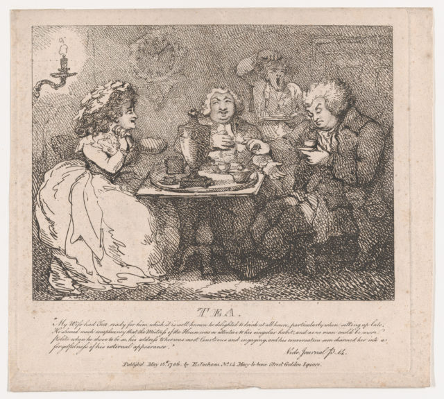Tea at the Journalist's House in St. James's Court (Picturesque Beauties of Boswell, Part the First)