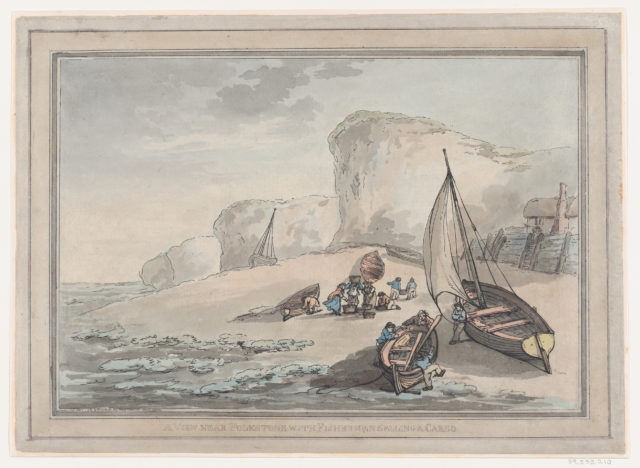 A View near Folkstone with Fishermen Selling a Cargo