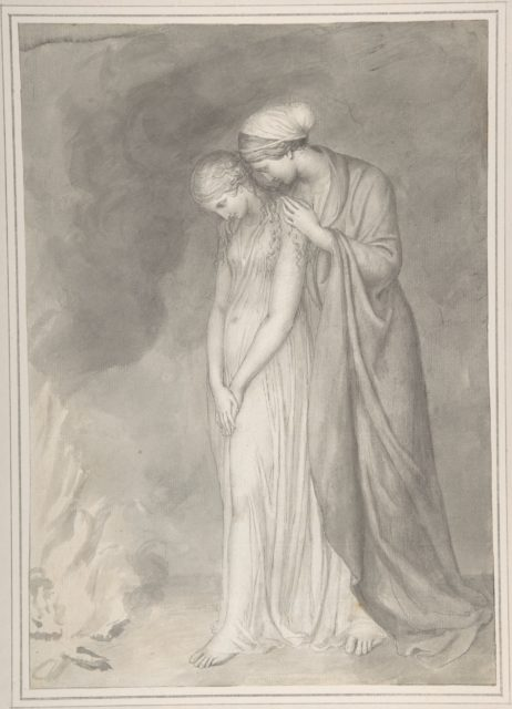 Study of Two Women Grieving