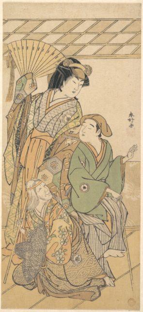 "The Fourth Iwai Hanshiro in three roles of the shosa ""Shichi Henge"""