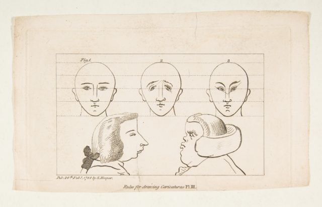Plate III, from Rules for Drawing Caricaturas