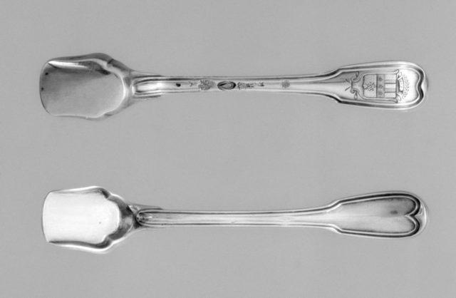 Pair of salt spoons