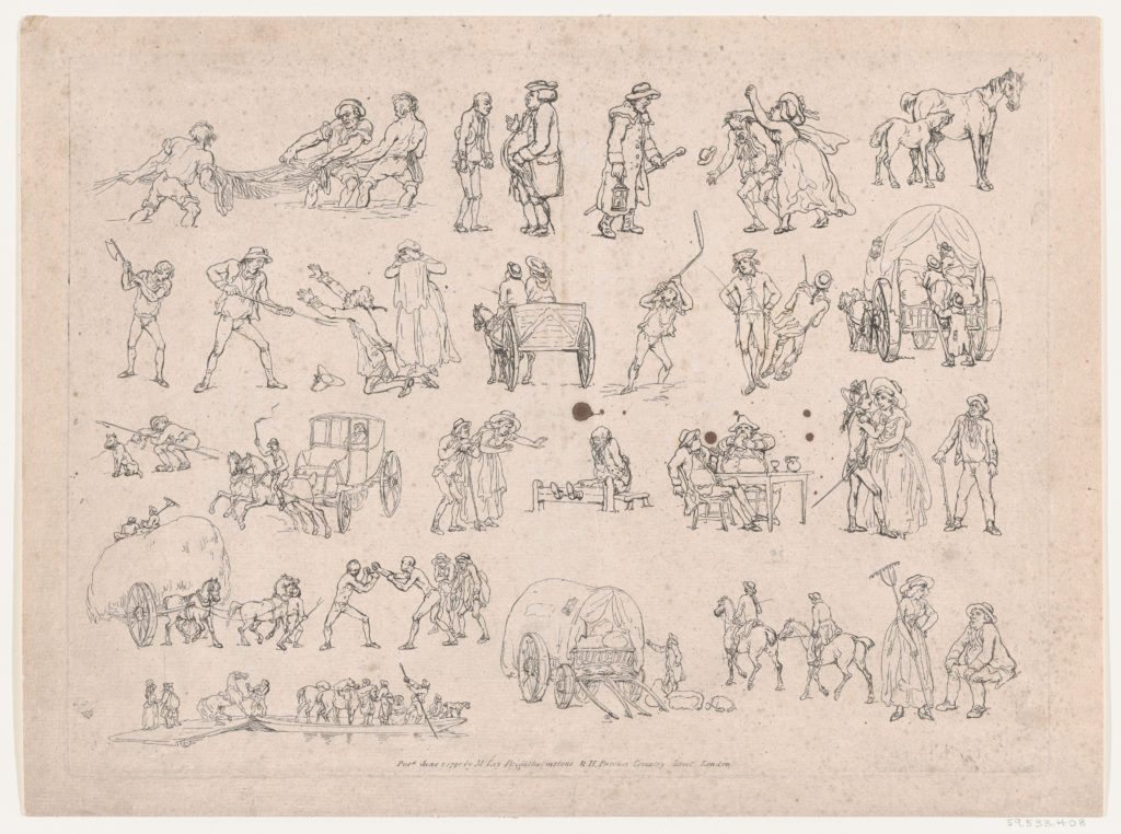 Outlines of Figures, Animals, and Carriages