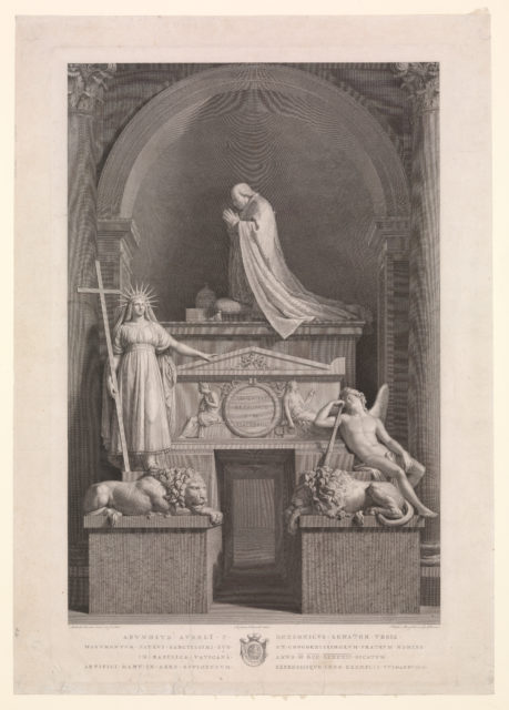 The tomb of Pope Clement XIII Rezzonico in the Vatican