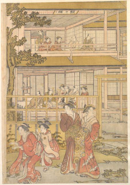Uranosuke Plays Blind Man's Buff with the Women of the Ichiriki Joroya