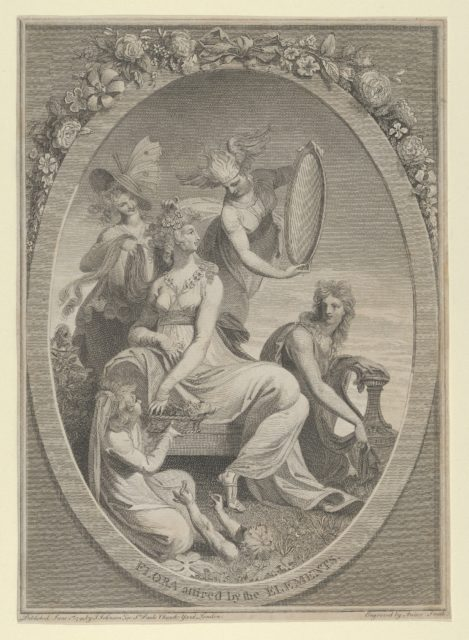 Flora Attired by the Elements (Frontispiece to The Economy of Vegetation, vol. I of Erasmus Darwin's The Botanic Garden)