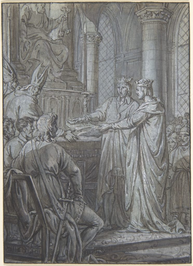 Louis III et Carloman donnent aux eveques du Royaume l'assurance de leur Fidelite en 882