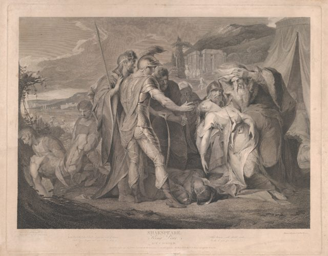King Lear Weeping Over the Body of Cordelia (Shakespeare, King Lear, Act 5, Scene 3)
