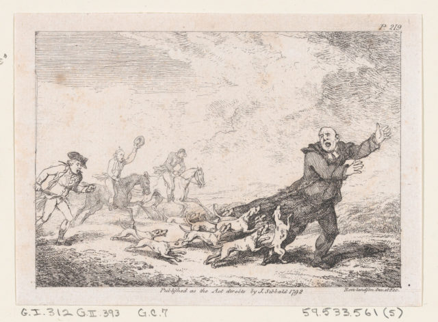 "Parson Adams Engaged In A Perilous Hunting Adventure..., illustration to Henry Fielding's ""Adventures of Joseph Andrews, and his friend Mr Abraham Adams"""