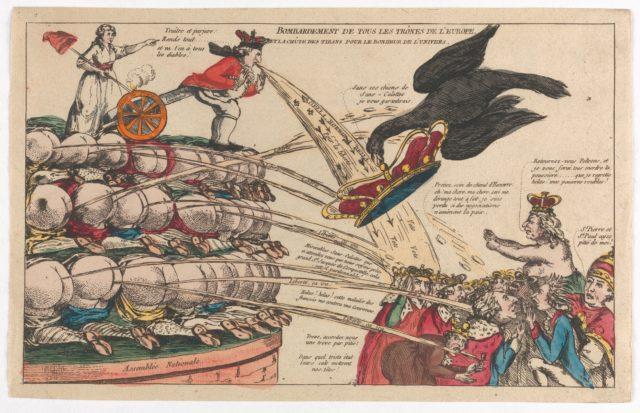 The Bombardment of All the Thrones of Europe and the Fall of the Tyrants for the Happiness of the Universe (Bombardement de Tous les Trônes de l'Europe et la Chûte des Tyrans pour la Bonheur de l'Univers)