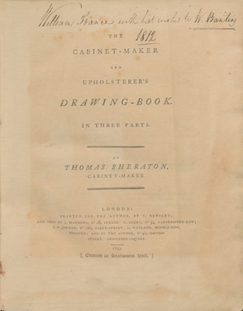 The cabinet-maker and upholsterer's drawing-book, in three parts