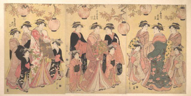 The Yoshiwara Parade in Autumn