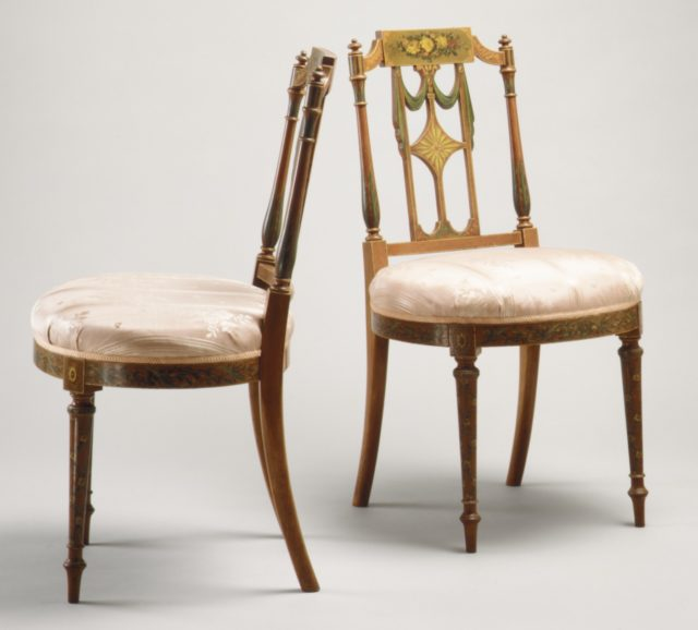 Side chair (one of a pair)