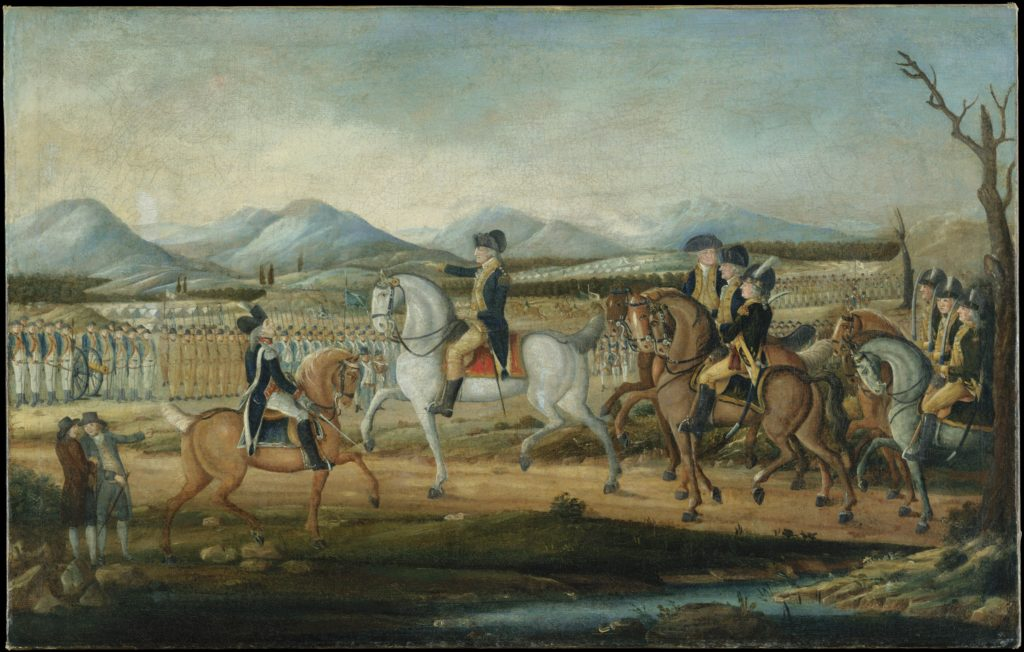 Washington Reviewing the Western Army at Fort Cumberland, Maryland