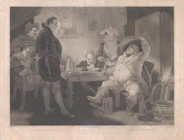 Falstaff, Prince Henry and Poins at the Boar's Head Tavern (Shakespeare, King Henry the Fourth, Part 1, Act 2, Scene 4)
