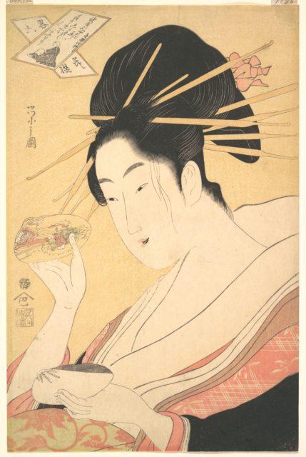 Matching Shells (Kaiawase), from the series Six Immortal Poets in Modern Guise (Yatsushi Rokkasen)