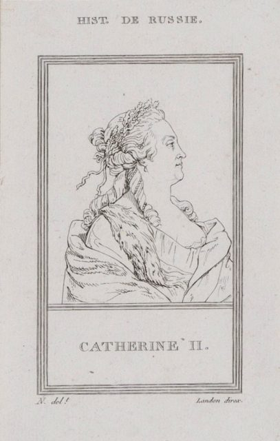 Catherine II, History of Russia, Engraving
