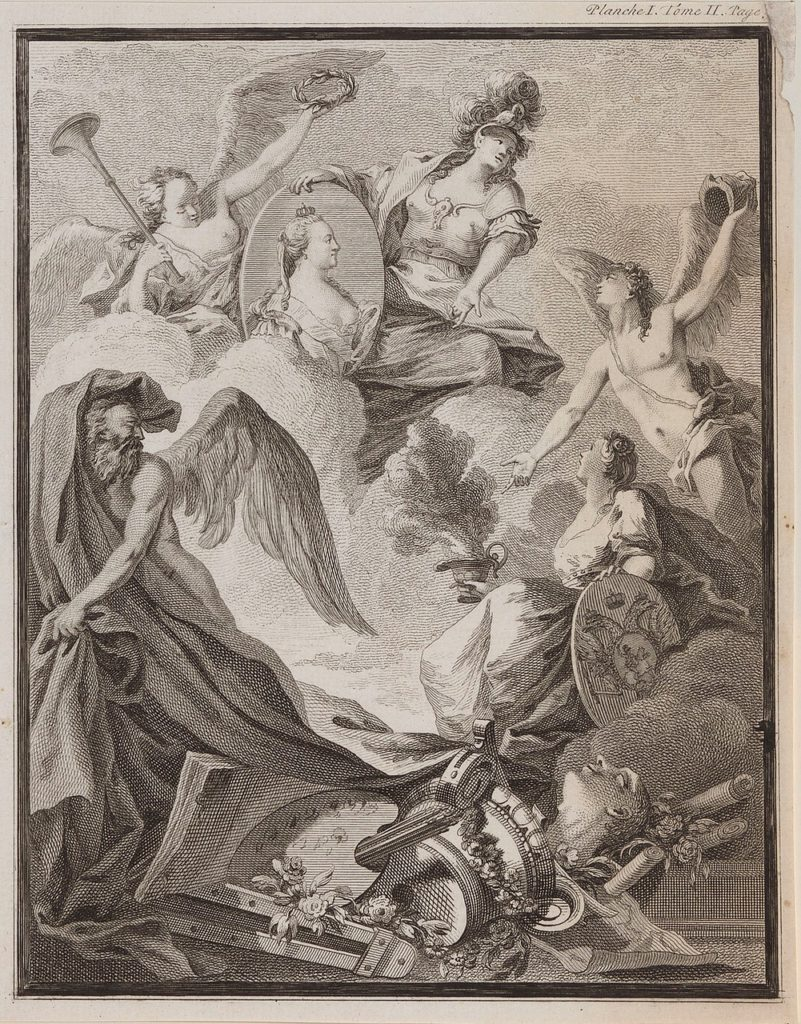 Catherine II, with angels allegory