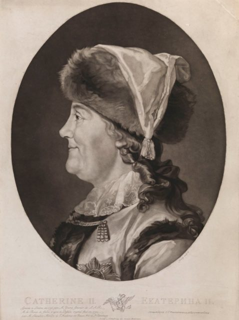 Catherine the Great in the fur hat
