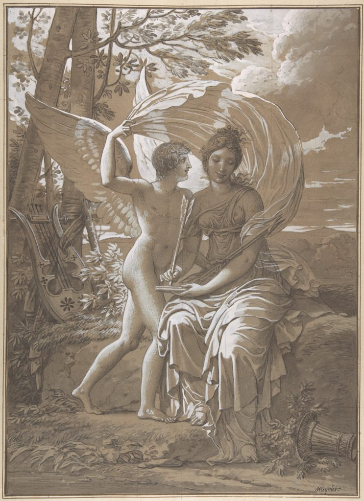 The Muse Erato Writing Verses Inspired by Love