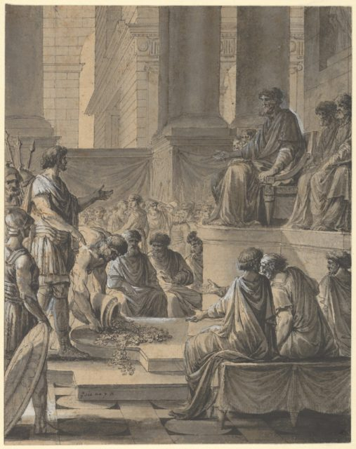 Hannibal Before the Senate in Carthage