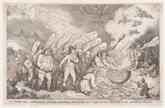 A Charm for a Democracy, Reviewed, Analysed, & Destroyed Jan 1 1799 to the Confusion of its Affiliated Friends