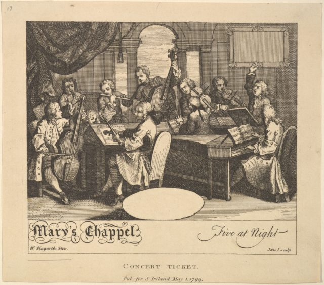 Concert Ticket - Mary's Chappel, Five at Night