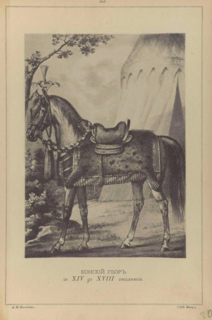 22. Horse outfit from the 14th to the 18th century