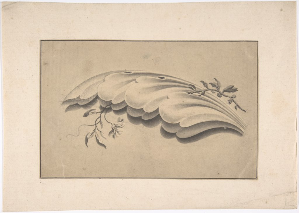 Acanthus Leaf and Flowering Vine Ornament
