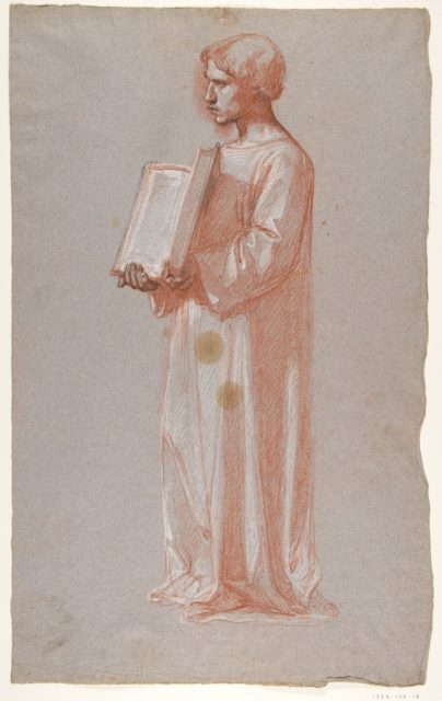 Acolyte with Open Book (middle register; study for wall paintings in the Chapel of Saint Remi, Sainte-Clotilde, Paris, 1858)