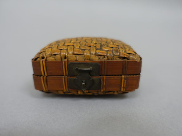 Basket with Hinged Lid
