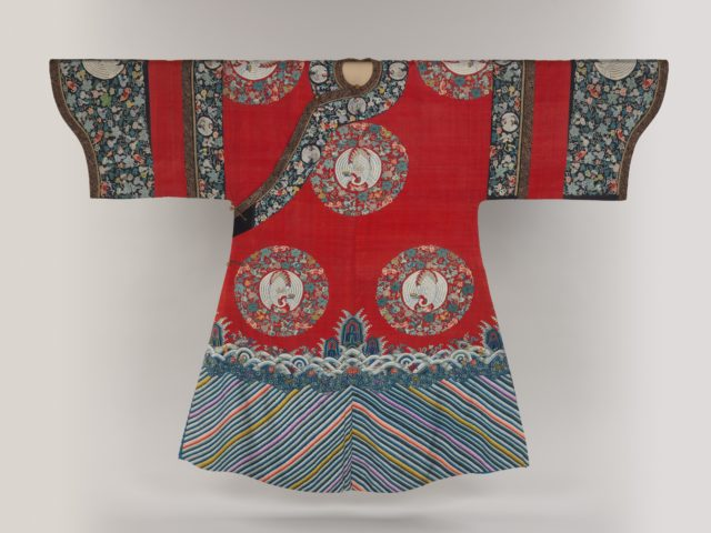 Birthday or Ceremonial Robe with Crane Medallions