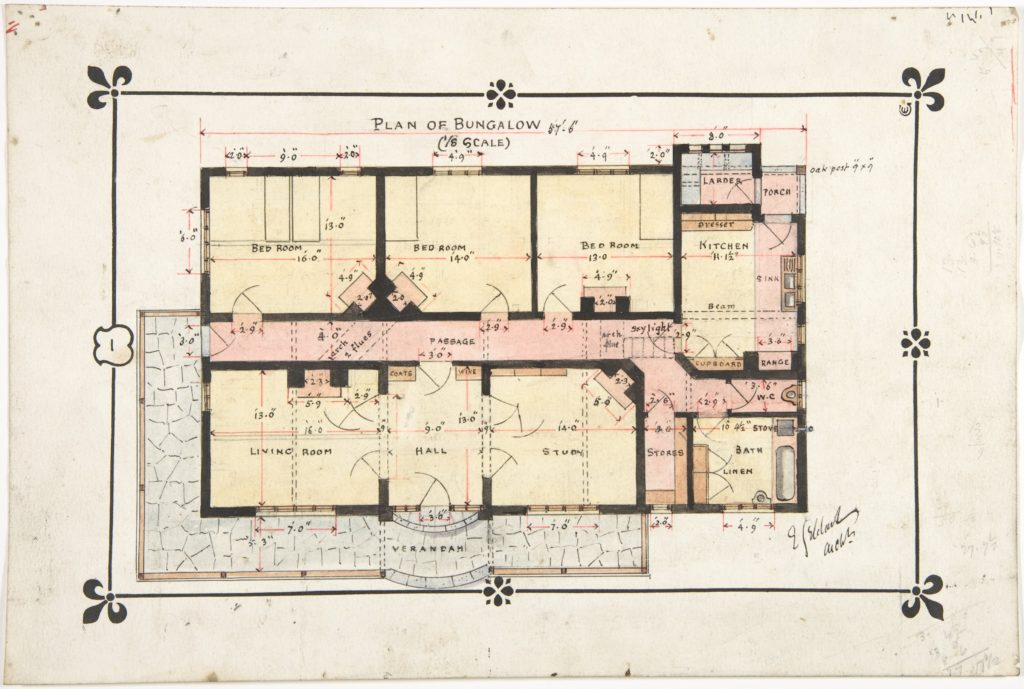 Bungalow drawing -- Floor Plan