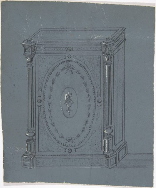 Cabinet Design with a Central Urn Ornament