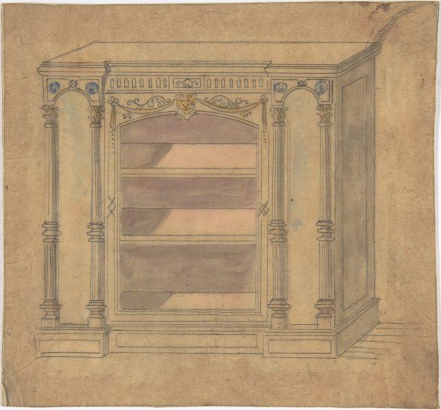 Cabinet Design with Central Shelves