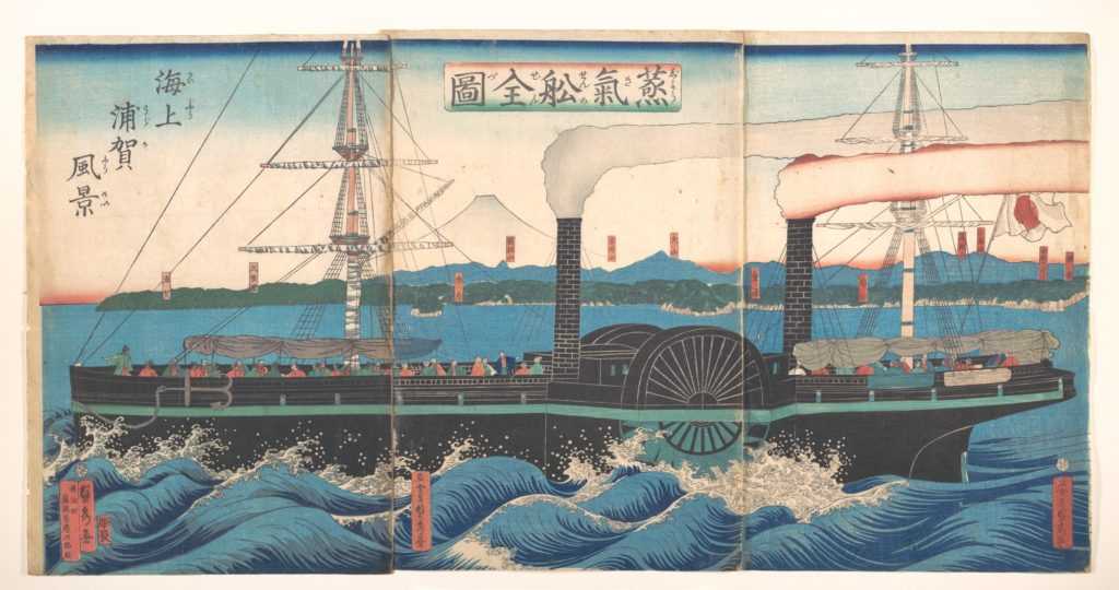 Complete Picture of a Steamship off Kanazawa