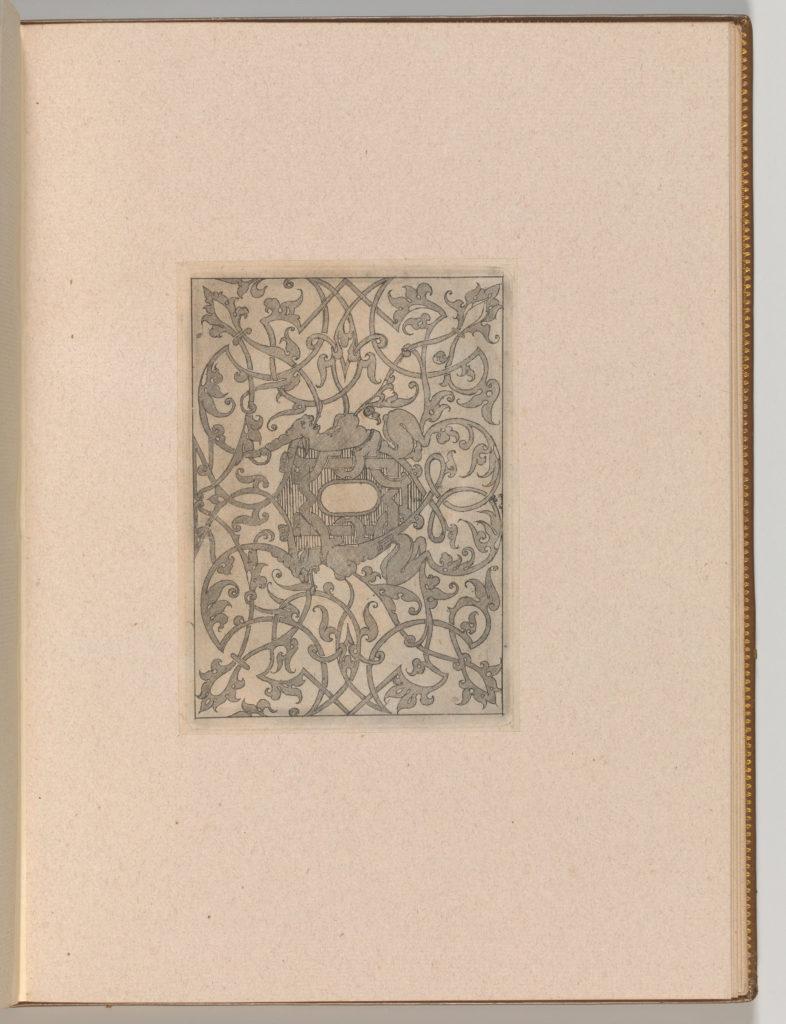 Copies after the 'Livre contenant passement de moresques' (plate 5)