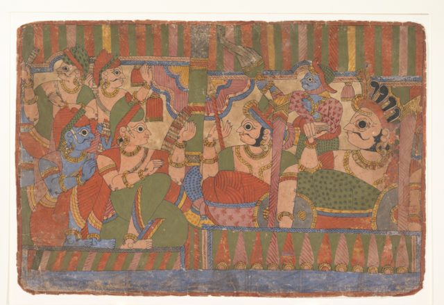 Council of Heroes:  Page from a Dispersed Mahabharata (Great Descendants of Mahabharata)