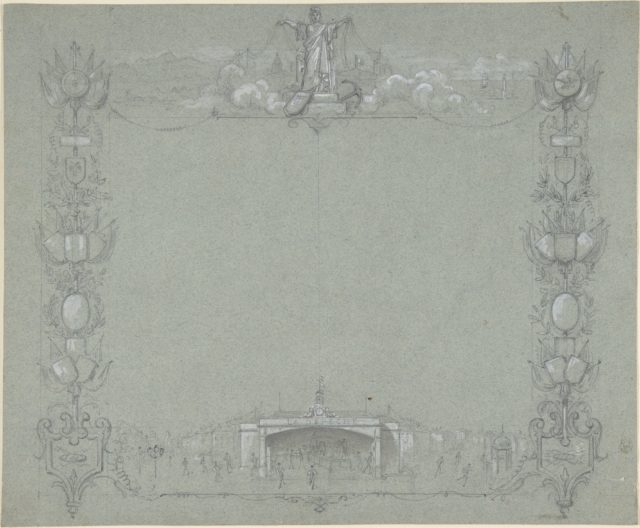 Design for a Certificate(?) sponsored by the French newspaper, La Dépêche