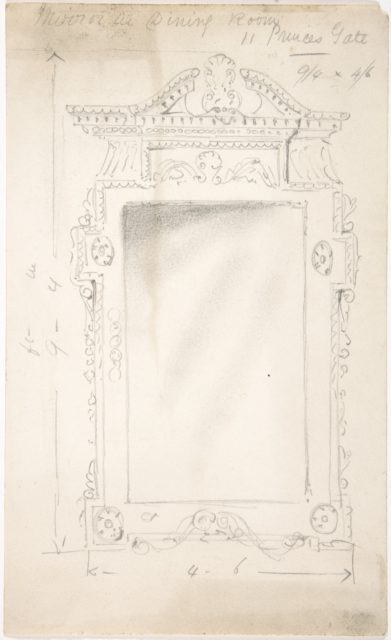 Design for a Dining Room Mirror, for 11 Princes Gate, London